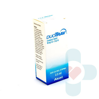 This medicine contains two active ingredients timolol and travoprost. Timolol is a selective beta receptor blocker used in the treatment of ocular hyperte