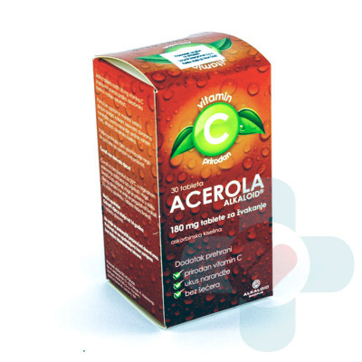 This product contains three active ingredients acerola powder, ascorbic acid and sodium ascorbate. The fruit acerola is a well-known source of vitamin C,